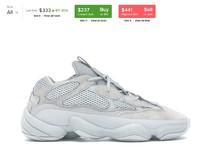 adidas Originals YEEZY 500 Salt 中性款休闲运动鞋