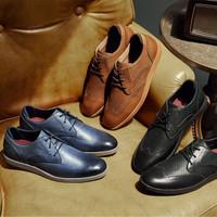 SKECHERS 斯凯奇 68629 设计师款 男士商务休闲皮鞋