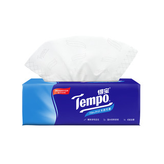 ]Tempo/得宝天然无香软抽纸巾4层加厚90抽/包纸品