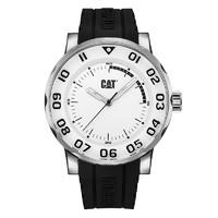 Cat 卡特彼勒日本机芯矽胶表带进口手表100米防水夜光运动男表NM