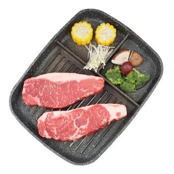 京东PLUS会员:祁连牧歌 安格斯 醇厚 原切西冷牛排 500g/袋(2片) *2件