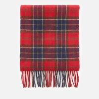 Barbour 巴伯尔 格子呢羊绒围巾 红色