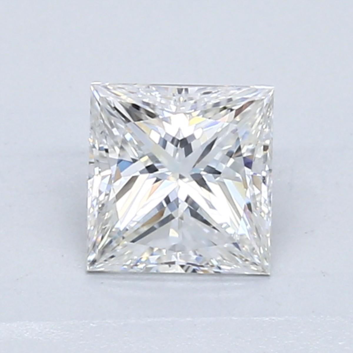 Blue Nile 1.04克拉公主方形钻石(切工VG,成色F色,净度VVS2)