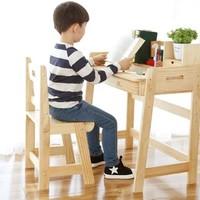 歪脖树 可升降儿童学习桌椅套装 (带书架)