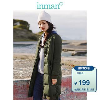INMAN 茵曼 GH17D010 女士中长款羽绒服