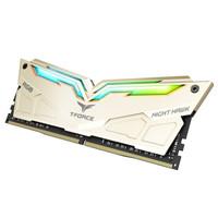 Team 十铨 夜鹰 RGB DDR4 3200MHz 台式机内存条 金色版 16G(8G×2)