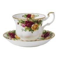 Royal Albert 复古乡村玫瑰骨瓷茶杯套装