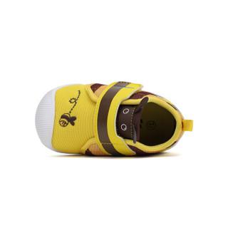Dr.Kong江博士男童婴儿鞋秋软底儿童机能鞋小孩女宝宝防滑步前鞋 黄色 #21
