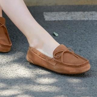 京东PLUS会员 : J.ZAO 京东京造 8386540 女士加绒豆豆鞋