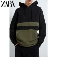 ZARA 01701323505 拼色连帽宽松卫衣