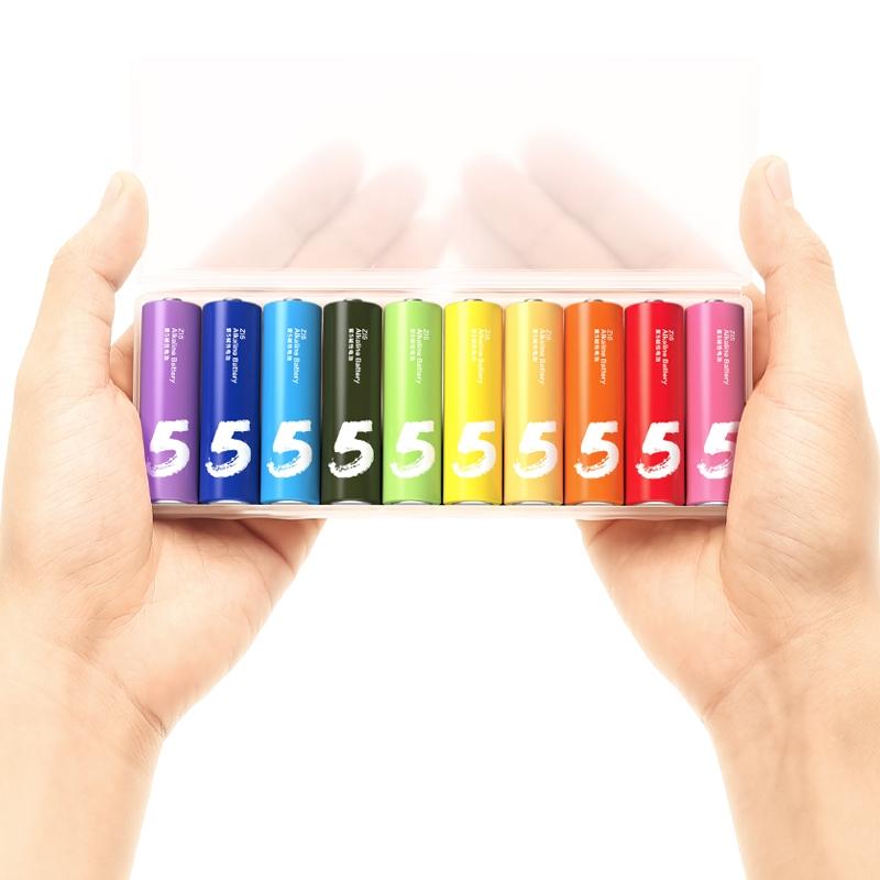 MI 小米 彩虹5号7号碱性电池五号七号儿童玩具电池批发遥控器鼠标干电池2空调电视话筒遥控挂闹钟小电池1.5V