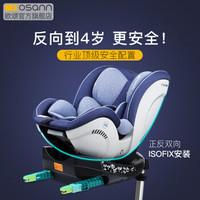 欧颂osann德国fox二代新生儿童安全座椅汽车用0-4岁婴儿宝宝座椅 普鲁士蓝