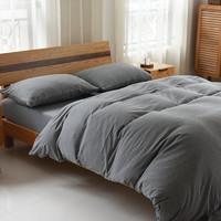 婉寇 全棉纯色针织四件套 床笠款 1.8米床