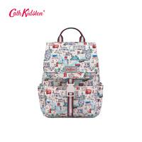 Cath Kidston2018秋款英伦印花扣带式双肩包女  时尚潮流背包