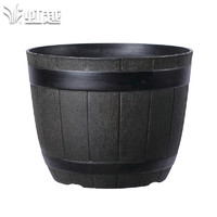HONGYUE 虹越  创意装饰酒桶花盆 20-22cm *2件