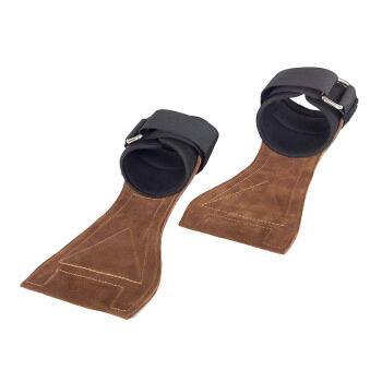 伊登 男士护腕握力带 牛皮款(一对) S(腕围15-18cm)
