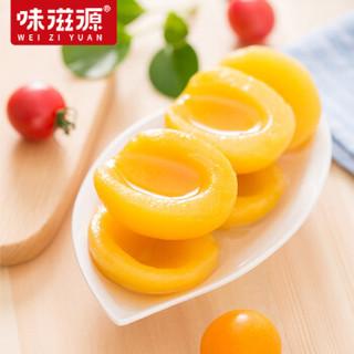 weiziyuan 味滋源 黄桃罐头砀山新鲜水果罐头休闲食品方便速食 糖水罐头 425g*5罐