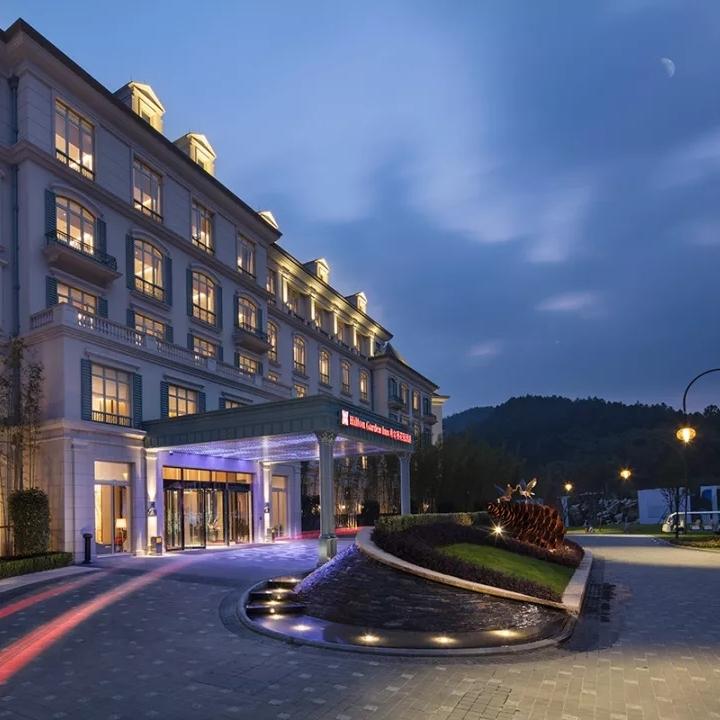 有效期至年底、周末不加价!杭州鸬鸟新湖希尔顿花园酒店1晚