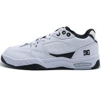 DC SHOES ADYS100473-WBK 男款防滑耐磨运动休闲板鞋 白夹色 41