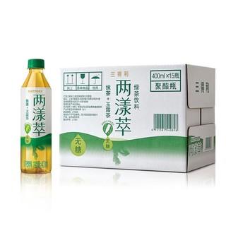 限上海:三得利 两漾萃绿茶 无糖茶饮料 400ml*15瓶