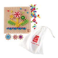 hape 百变像素画 积木拼插玩具 智力早教 3-4-6岁女孩儿童蘑菇钉组合拼插板拼图 百变像素画E8369