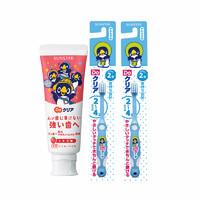 日本进口盛势达 do clear 草莓牙膏70g*1+ 2-8岁儿童牙刷*2套装