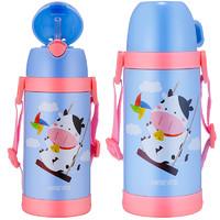 哈尔斯儿童保温杯 男女便携防摔杯子带吸管水杯幼儿园小学生水壶