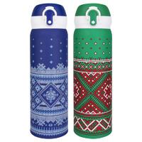 哈尔斯保温杯男女圣诞款弹跳盖保温水杯学生礼物便携创意水杯