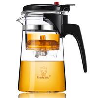 heisou 耐热玻璃过滤茶壶茶具 按压式内胆飘逸杯 大容量煮茶泡茶壶 茶水分离750ml KC60 *3件