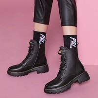 Teenmix 天美意 AV771DD9 女款系带马丁靴