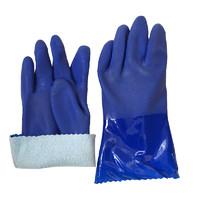 防油手套加绒冬季保暖水产防水手部防护耐油墨绿春蕾966手套绒里