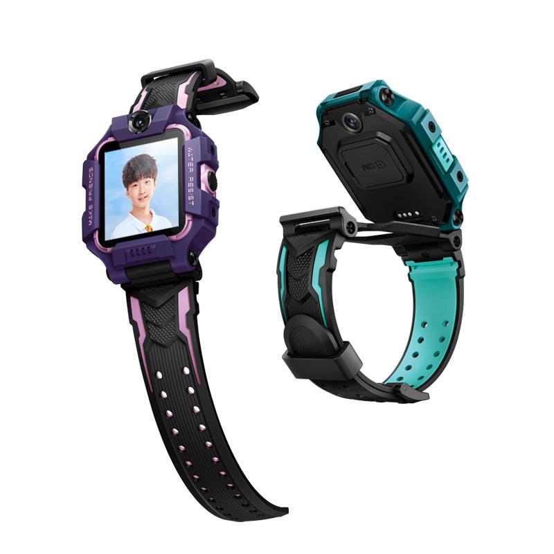 小天才 Z6 智能手表 41.4mm 紫色表盘 黑色TPSIV表带(北斗、GPS)