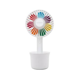 北欧欧慕(nathome)电风扇小风扇桌面台式usb风扇手持小风扇静音小风扇迷你充电风扇 白色