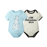 Augelute 夏季婴儿短袖连身衣爬服2件/组0-3岁 *8件