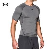 UNDER ARMOUR 安德玛 1257468 男子强力伸缩型运动短袖 灰色090