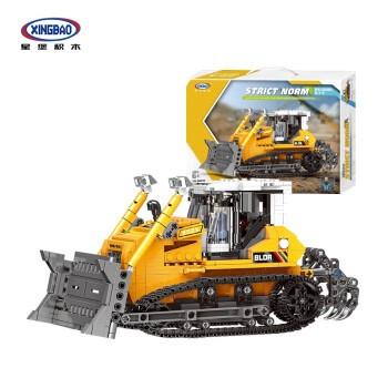星堡积木 城市工程车模型系列  03039 推土机