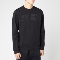 KENZO Mixed Mesh 男款logo卫衣