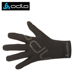 奥递乐odlo运动手套男女保暖防风跑步户外登山 男款 黑色 均码
