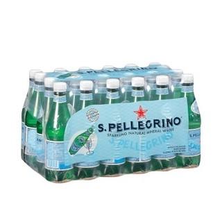临期品 : SANPELLEGRINO 圣培露 天然气泡水 500ml*24瓶 *4件