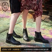 ASH女鞋马丁靴女秋冬新款WINO系列短靴铆钉短筒踝靴切尔西靴