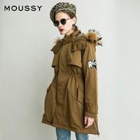 MOUSSY 摩西 028BAE30-5020 女士中长款棉服