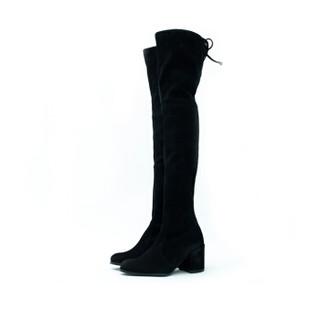 STUART WEITZMAN 斯图尔特·韦茨曼 TIELAND 女士高筒靴 黑色 36