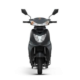 Yadea 雅迪 电动车豪战加长版电瓶车成人男女代步车电动摩托车 精致版黑色