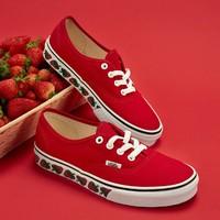 VANS 范斯  VN0A3MU6VL9 男女款Authentic小草莓帆布鞋