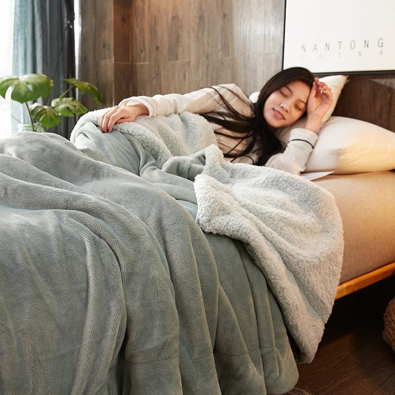 制梦家纺 双层法兰绒毛毯 150*200cm 3.2斤