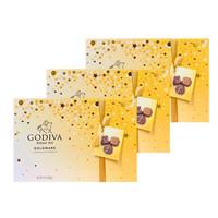 Godiva 歌帝梵 多口味牛奶夹心巧克力礼盒 27颗装 303g/盒 3盒