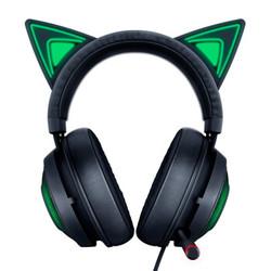 RAZER 雷蛇 北海巨妖 萌猫版 游戏耳机 黑色