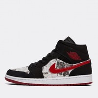 Jordan 1 Mid Newspaper Air Times 篮球鞋