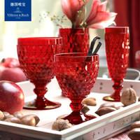 德国唯宝(Villeroy&Boch) 波士顿系列红葡萄酒杯进口水晶玻璃杯 红色四只装 *3件