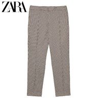 ZARA 09929228704 女士千鸟格纹铅笔裤